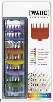 Wahl Colour Clipper Comb / Guard Attachment Caddy Set - Size 1-8