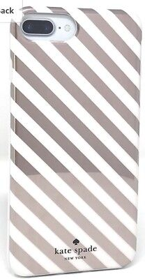 PLUS Kate Spade Protective Cover iPhone PLUS 8 7 6 6s Rose Gold Diagonal Stripe
