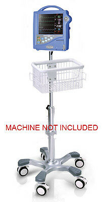 Rolling Roll Stand For Critikon Dinamap Pro 1000 Patient Monitor New Big Wheel