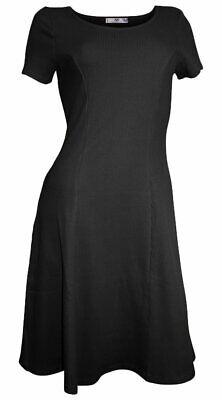 Baumwolle Mini-kleid (AJC Minikleid Gr. 38 schwarz reine Baumwolle NEUWARE)