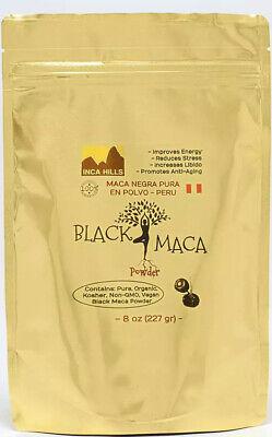 ORGANIC BLACK MACA NEGRA 1/2 Lb (227 Gr) POLVO *GUARANTEED PURE* BEST DEAL