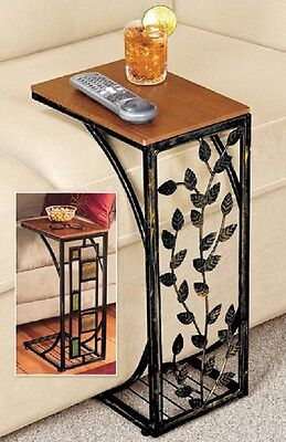 Side Table Drop Leaf or Geometric side Easy Storage Small Space End Coffee  ()