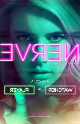 Nerve Movie Poster 2 Sided Original Advance 27X40 Emma Roberts