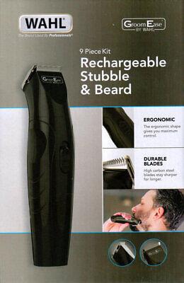 Groomease Por Wahl Recargable Barbero y Barba Cortapelos 9 Piezas Kit