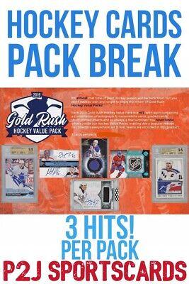 Gold Rush 2019 VALUE HOCKEY CARD PACK BREAK 1 RANDOM TEAM Break 1920 NHL 3 HITS