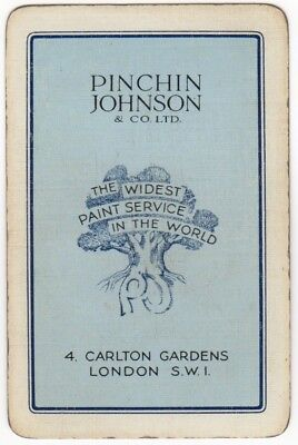 Playing Cards 1 Swap Card Old Vintage Advertising PINCHIN JOHNSON Paint Service