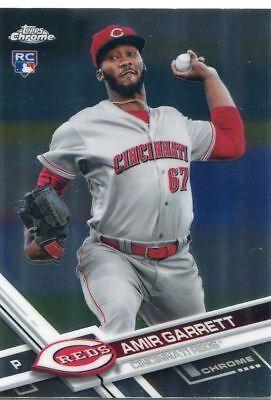 2017 Topps Chrome #83 Amir Garrett Rookie Cincinnati Reds - NM-MT