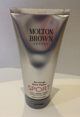 MOLTON BROWN RE-CHARGE BLACK PEPPER SPORT 4-in-1 body wash 200ml