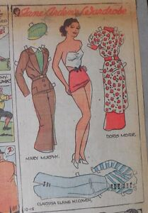 Jane Arden Sunday with Large Uncut Paper Doll from 10/18/1936 Full Size Page!