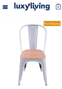 Gloss Metal tolix chait with pinewood seat (set of 2) Brisbane City Brisbane North West Preview