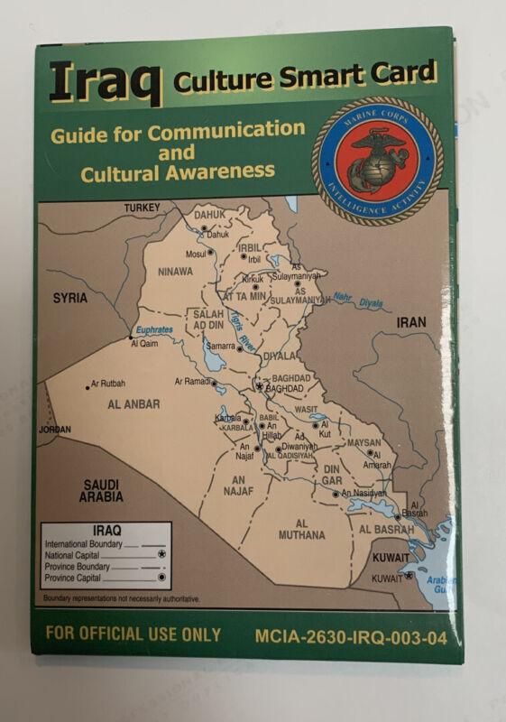 USMC Iraq Culture Smart Card Guide for Communication And Cultural Awareness