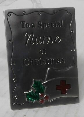 To a Special Nurse at Christmas Metal Ornament - Holly & Hat - d2a](Nurse Ornaments)
