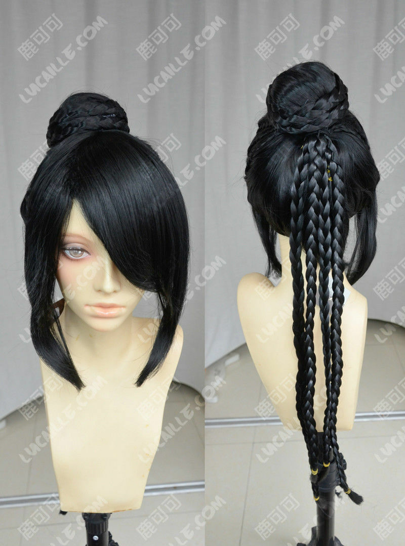 Details about Final Fantasy Lulu Cosplay Wig Animation Cos Wig Hair D