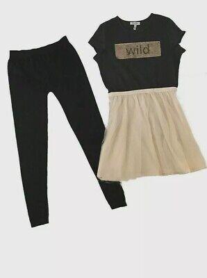 Jessica Simpson Girl's  Drees 2 PIECE SET  Size L-14/16 PHANTOM - Drees Girl