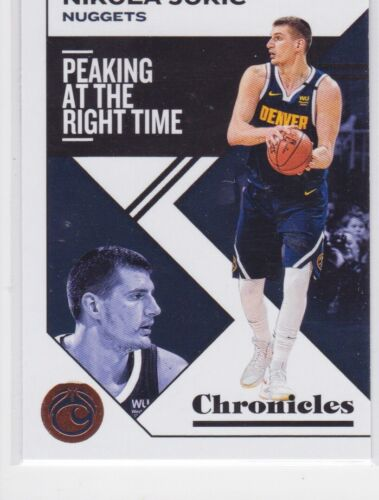 2019-20 PANINI CHRONICLES DENVER NUGGETS NIKOLA JOKIC BRONZE PARALLEL NO. 1