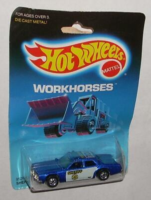 Vintage 1985 Hot Wheels Car Sheriff Patrol Workhorses Blue MOC