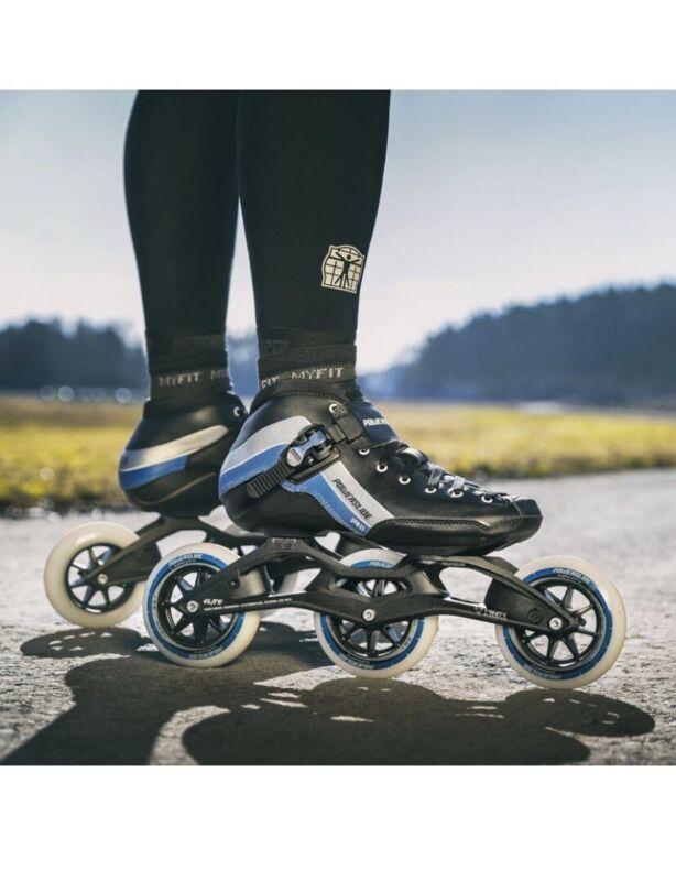 Powerslide R2 Trinity Skates. Size US-10, EUR-43, MM-277.  Black Blue Silver
