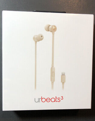 Beats by Dr Dre urBeats 3 Earphone [ Satin GOLD + Lightning Connector ] NEW