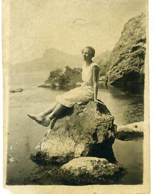 1930s Girl Woman Crimea Black sea   Russian vintage photo
