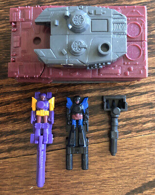 Quake Targetmasters 100% Complete 1988 G1 Transformers Vtg With Accessories