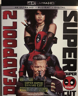 Deadpool 2 Super Duper Cut (4K Ultra HD + Blu-ray + Digital, 2018) Pre-owned