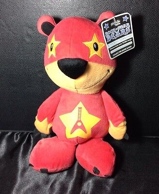 ROCKSTAR Electric Guitar Player Peekaboo Stuffed Animal Plush Teddy Bear
