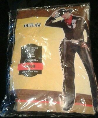 Outlaw Sexy Men's Cowboy Costume One Size Fits Most