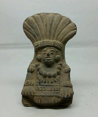 Antique Pre Columbian Pottery Vessel Funerary Pot Mayan Aztec Inca ?