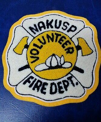 VINTAGE NAKUSP, CANADA VOLUNTEER FIRE DEPT FELT PATCH