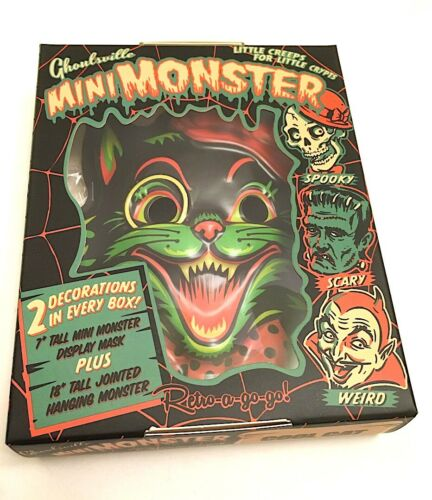 Ghoulsville Retro-A-Go-Go Mini-Monsters Series 1 COOL CAT Halloween Decor