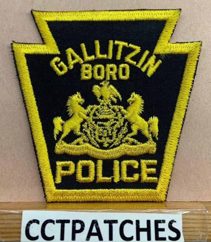 GALLITZIN BOROUGH, PENNSYLVANIA POLICE (KEYSTONE) SHOULDER PATCH PA