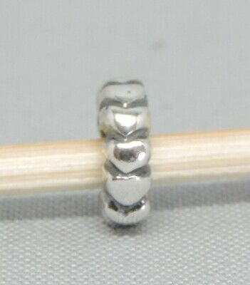 Authentic Pandora Heart Row Spacer/Charm/Bead Silver 925 ALE 790204