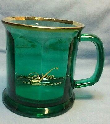 - FREDERICKSBURG REGIONAL TRANSIT GREEN GLASS COFFEE MUG MADE IN THE USA