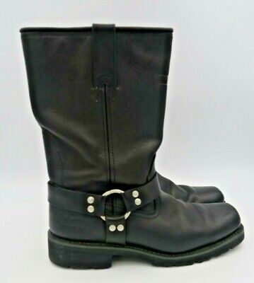 XElement Men's Soft Black Leather Riding Boots LU1443 Water Repellent Size 12