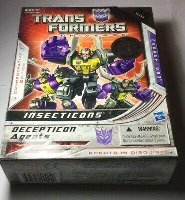 G1 Transformers Universe Insecticons Deception Agent 25 Years 1984-2009 New