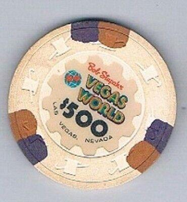 Vegas World Hotel  500 00 Bob Stupak Casino Chip Las Vegas Nevada