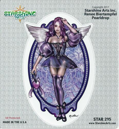 PEARLDROP FAERY Fairy Sticker Car Decal Renee Biertempfel pearl drop purple
