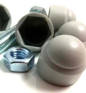 M16-16mm-GREY-NUT-COVERS-PLASTIC-NYLON-HEXAGON-COVER-CAPS-RAL7038-BOLT-FWS