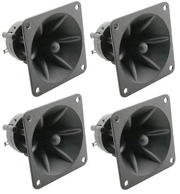 4 Pack ProCraft LH307 50 watt RMS - Piezo Tweeters DJ Car Audio Horn Replacement