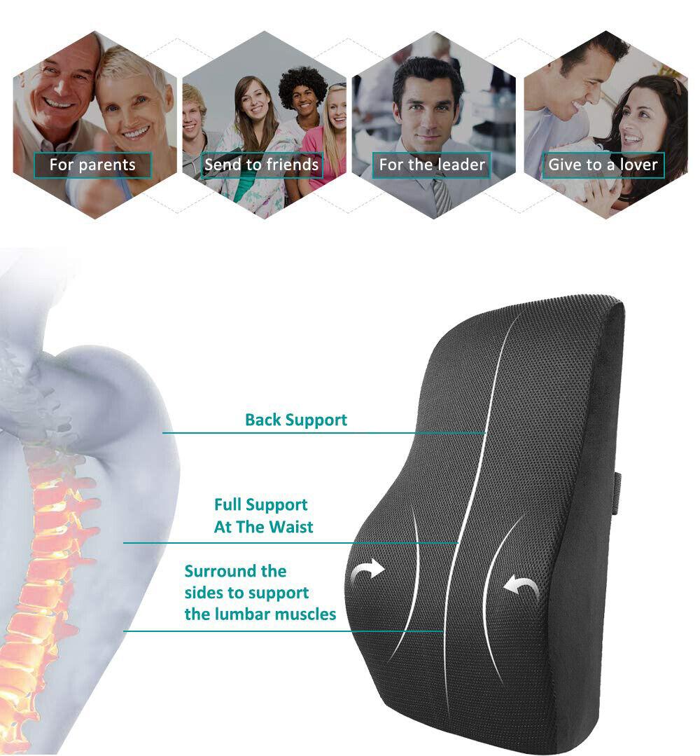 Autokissen Lordosekissen Rückenstütze Sitzkissen Keilkissen Rückenkissen