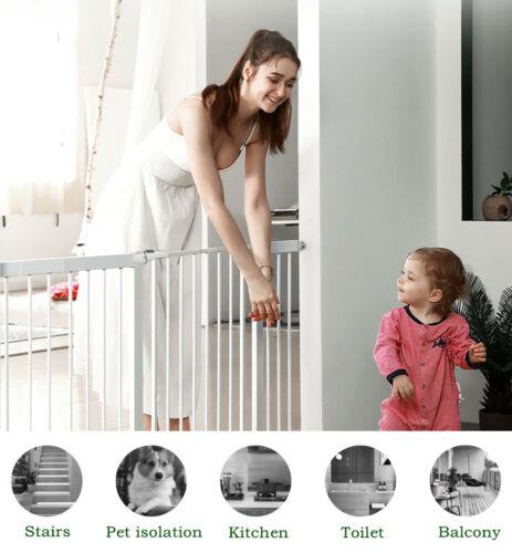Extra wide Walk Thru Safety Gate Baby Indoor Security Pet Do