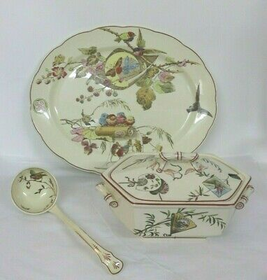 soup ladles A striking pair of Staffordshire gold trim
