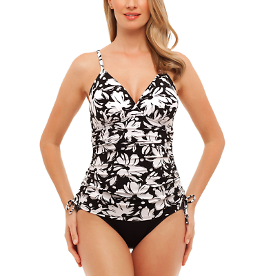 St. John's Bay Dotty Daisy Convertible Swim Dress Size 8,...