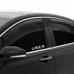 UBER Driver Vinyl Decal Sticker Side Door Window Rideshare Sign Car service