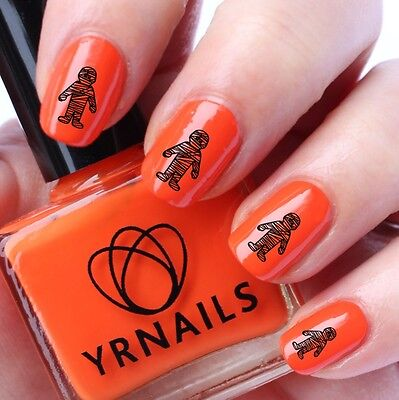 Nail WRAPS Nail Art Water Transfers Decals - Halloween Mummy - H019