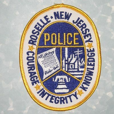 """Roselle Police Patch - New Jersey - 3 1/2"""" x 4 1/2"""""""