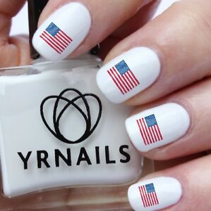 Nail WRAPS Nail Art Water Transfers Decals - Scribble American Flag USA - S639