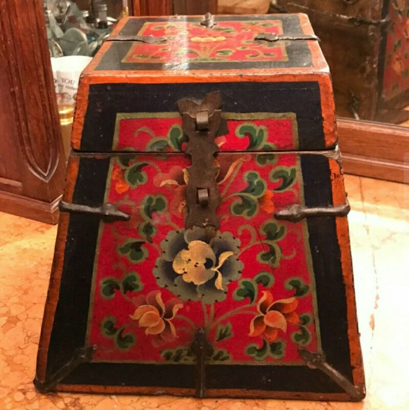 Rare Antique Rice Box - Gorgeous Rich Colors