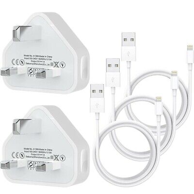 MBYY USB Wall Chargers,MFi Certified 3.1FT*3PACK Phone cables and 2Pack USB Plug
