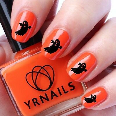 Water Transfers Decals - Halloween Cute Ghost - H040 (Halloween Cute Nails)